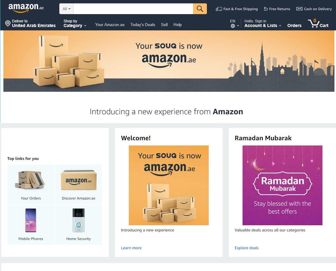 Amazon.ae Replaces Souq.com In The UAE